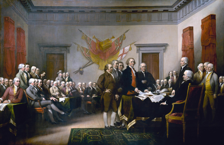John Trumbull, La Signature de la Déclaration d'indépendance, 1825, huile sur toile, 3,7 x 5,5 m, Capitole, Washington