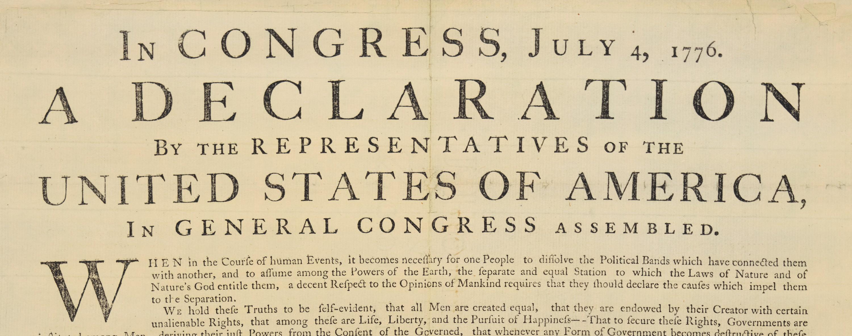 Déclaration d'indépendance, 200 copies dès le 5 juillet