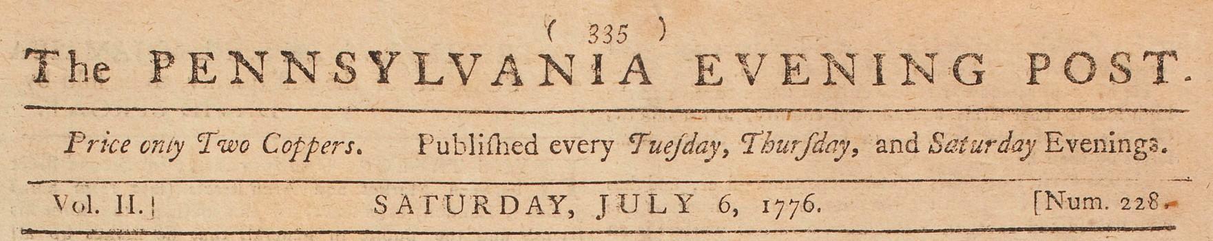 Une copie dans un journal local, le 6 juillet