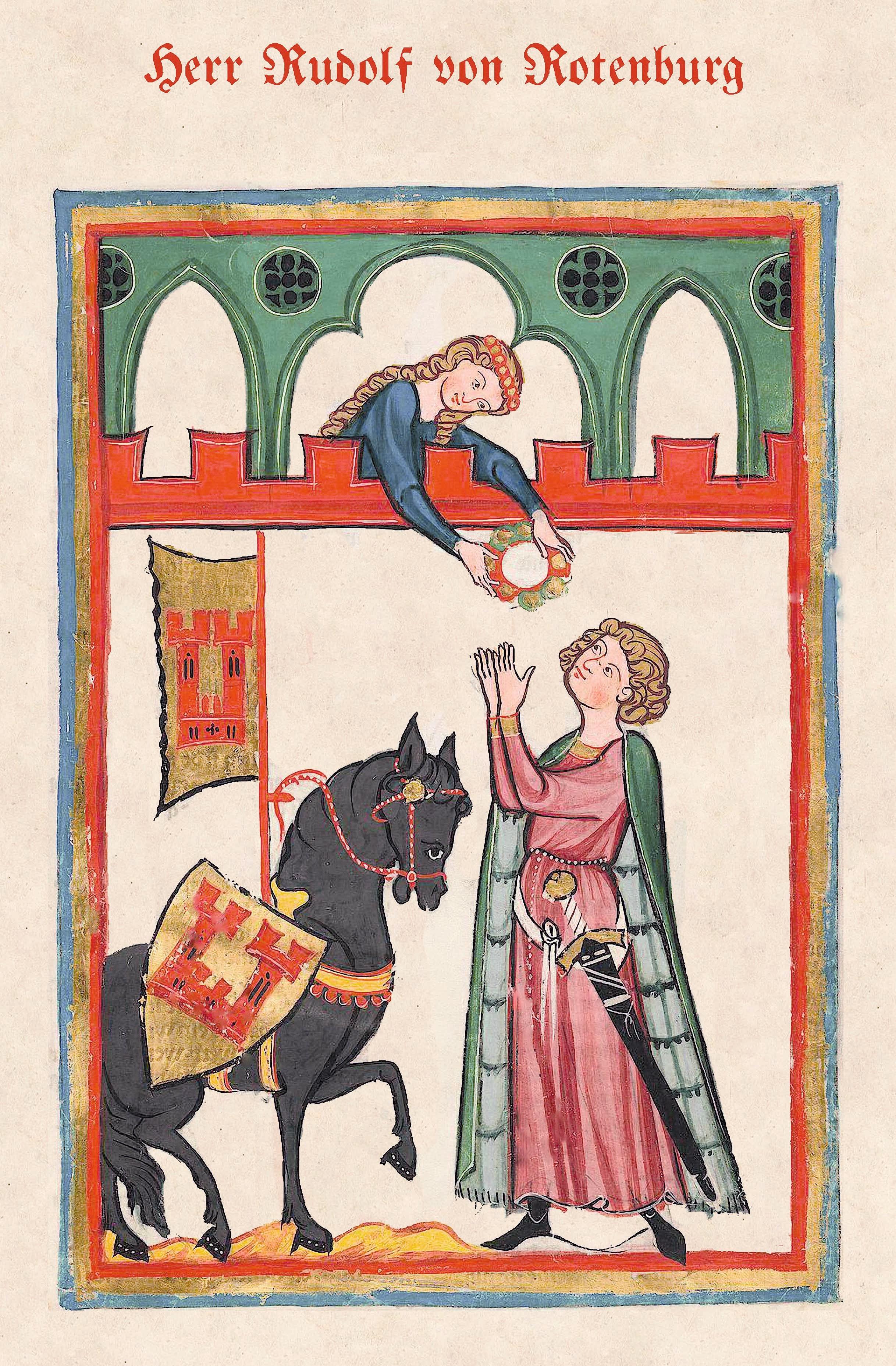 Livre de chants médiéval appartenant à Rudolf von Rotenburg, 1257.