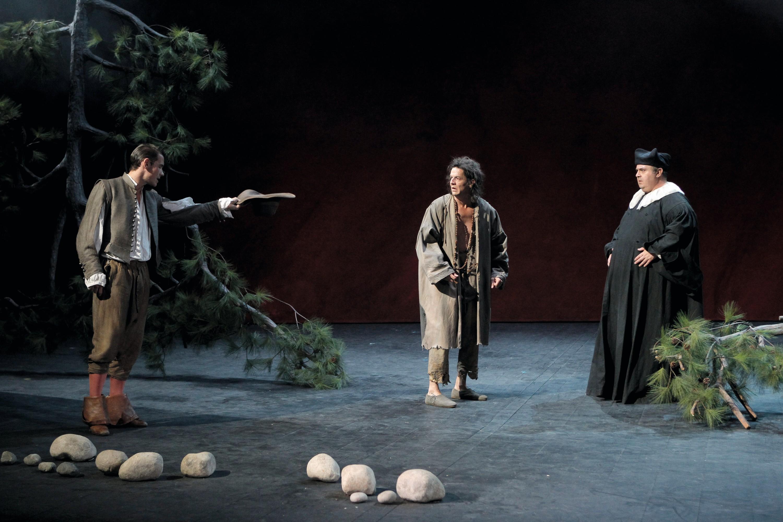 Dom Juan, mise en scène de Jean-Pierre Vincent, Comédie-Française, Paris, 2012.