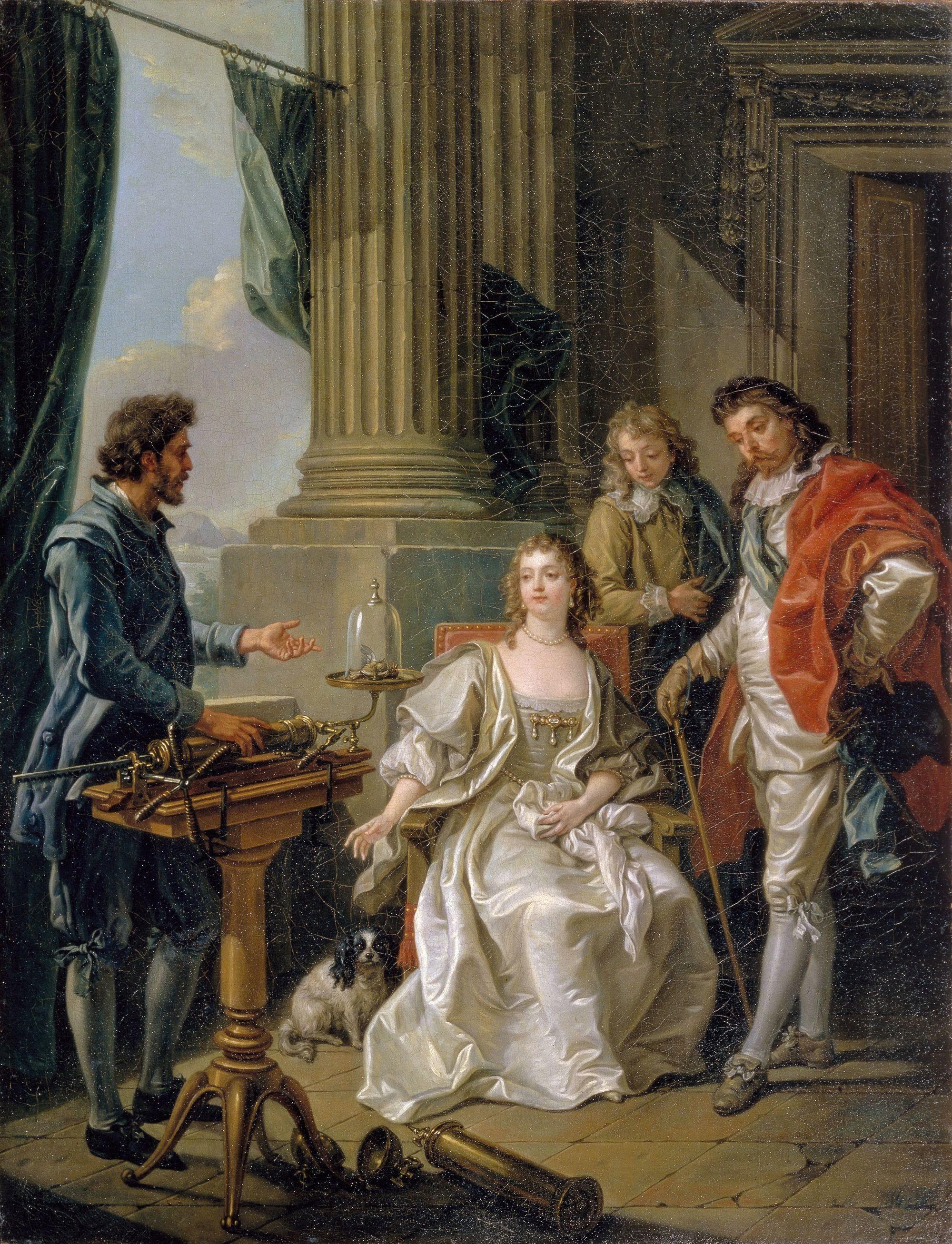 Amédée Van Loo, Expérience pneumatique, 1777, huile sur toile (détail), 113 x 90 cm, musée du château d'Arkhangelsk