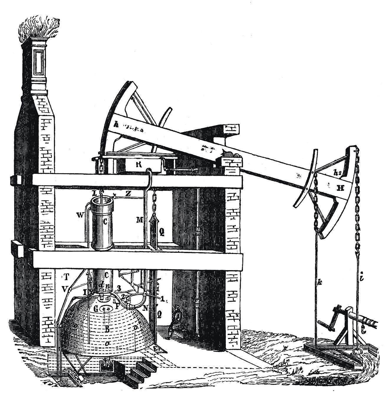 Révolution scientifique avec la machine à vapeur de Thomas Newcomen (1712)