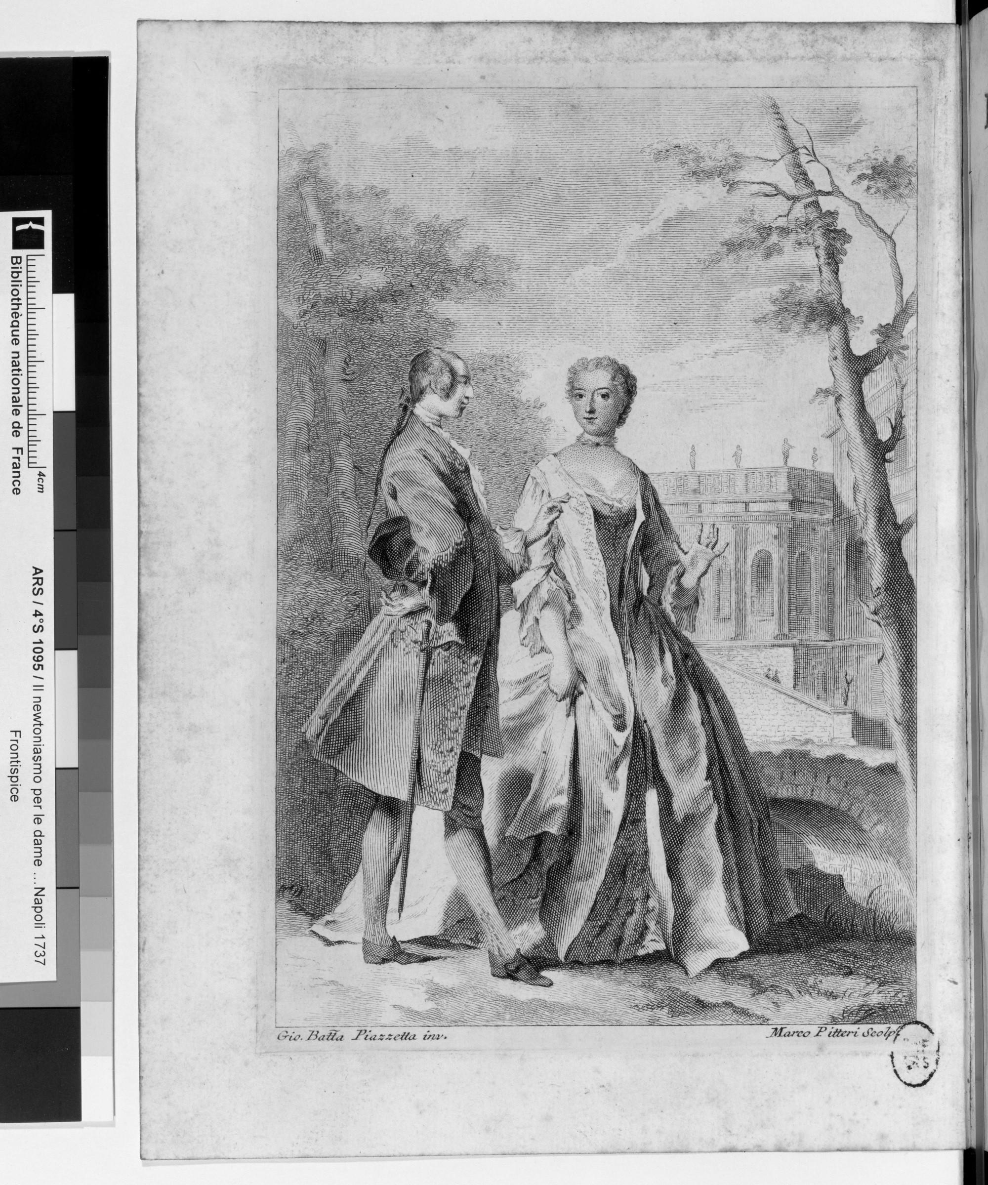 Francesco Algarotti, gravure dans Le Newtonianisme pour les dames, 1738, BnF, Paris.