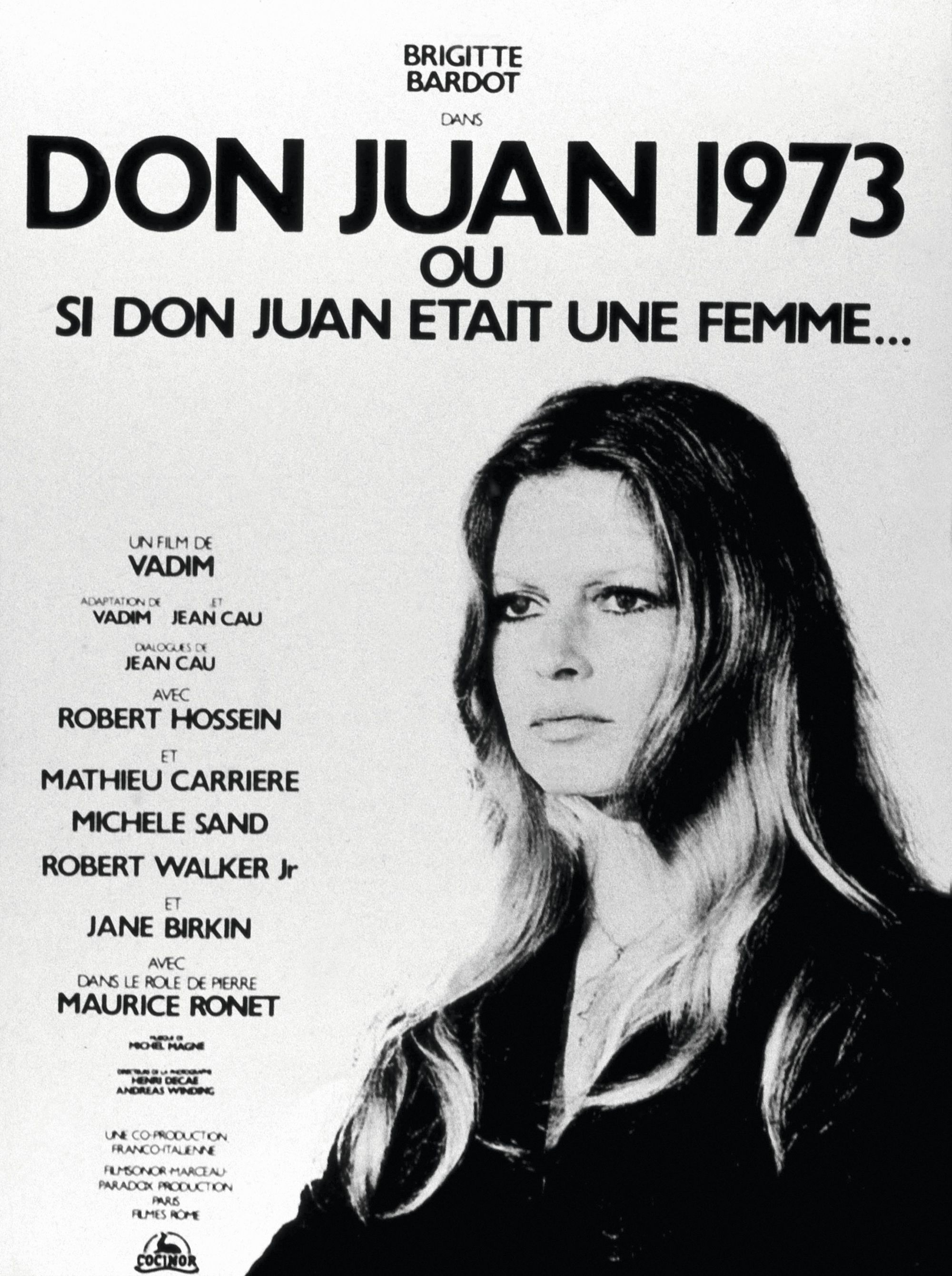 Affiche du film Don Juan 1973, de Roger Vadim, 1973.