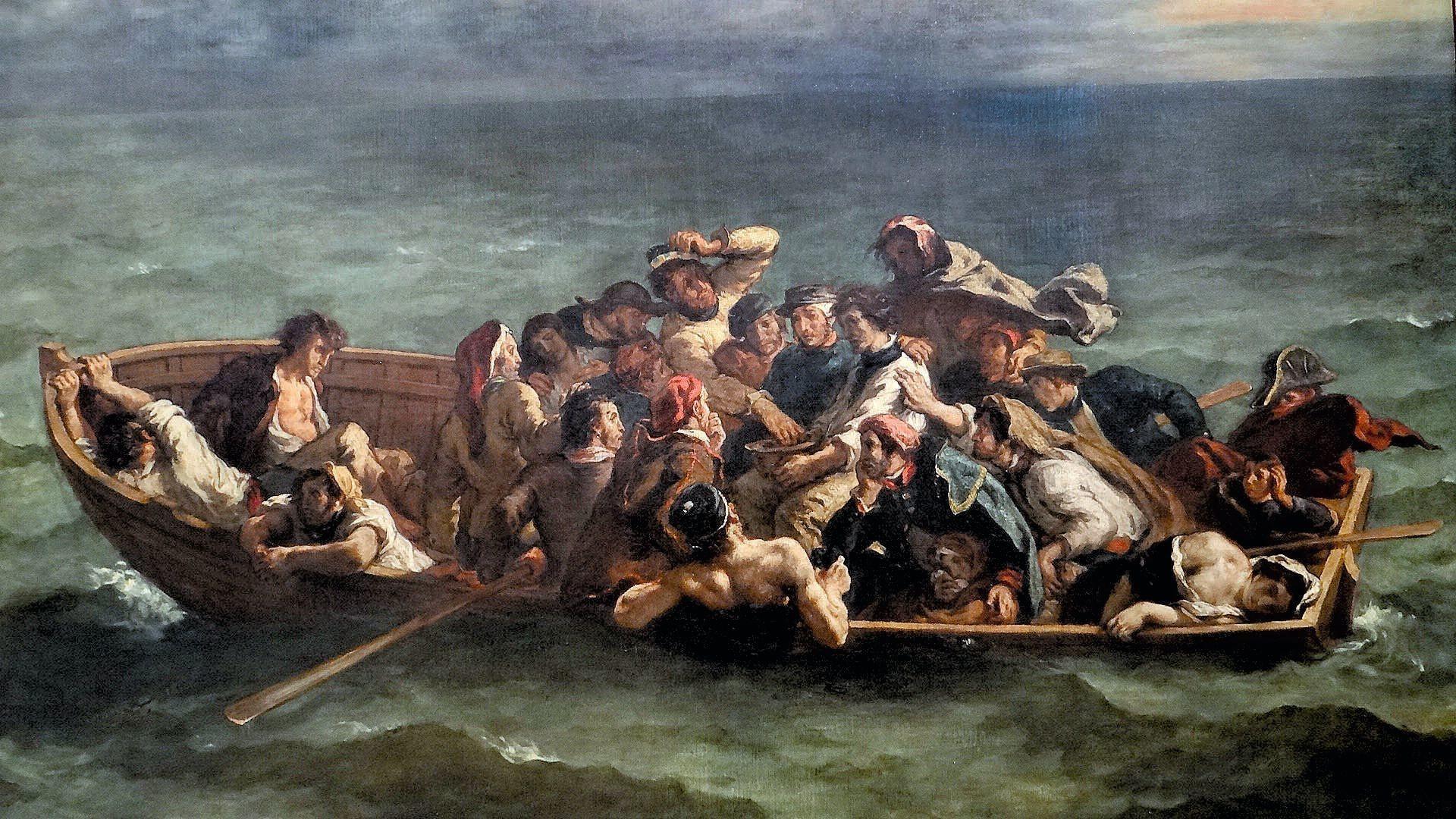 Eugène Delacroix, Le Naufrage de Don Juan, 1840, huile sur toile, musée du Louvre, Paris.