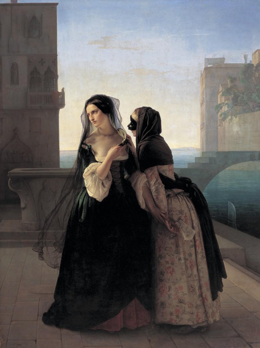 Francesco Hayez, La Vengeance (détail), 1851, huile sur toile, 237 × 178 cm, Kunstmuseum Liechtenstein, Vaduz, Liechtenstein.