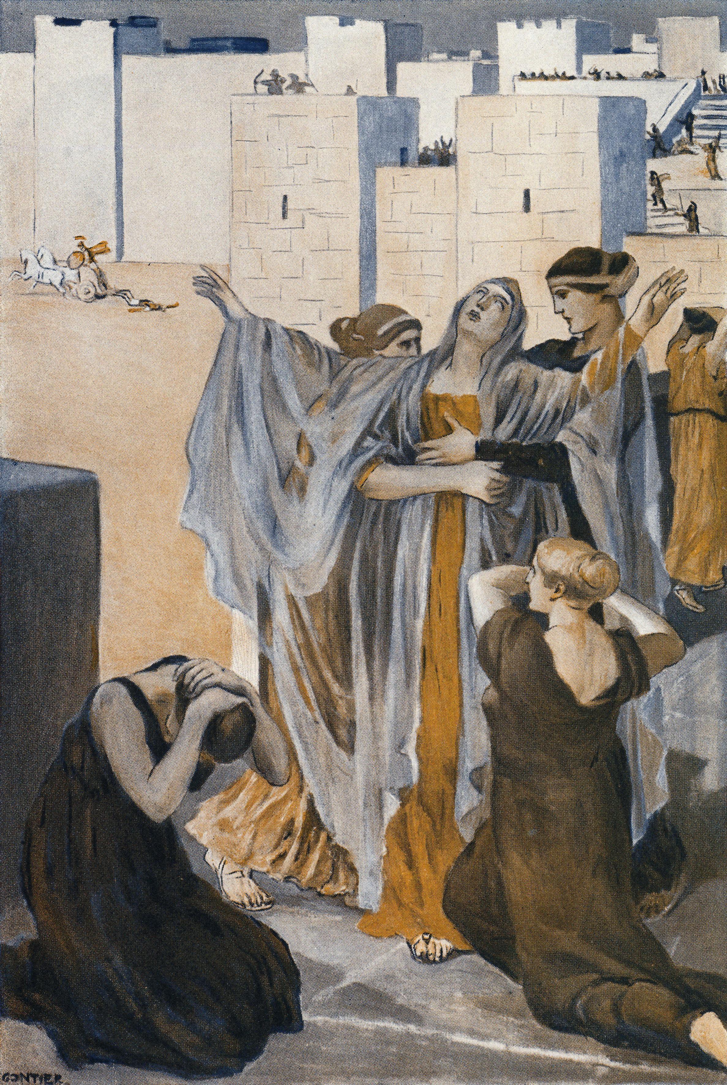 Clément Gontier, illustration pour L'Iliade d'Homère, 1930, Henri Laurens éditeur, Paris.