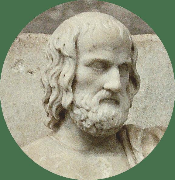 Statue Euripide