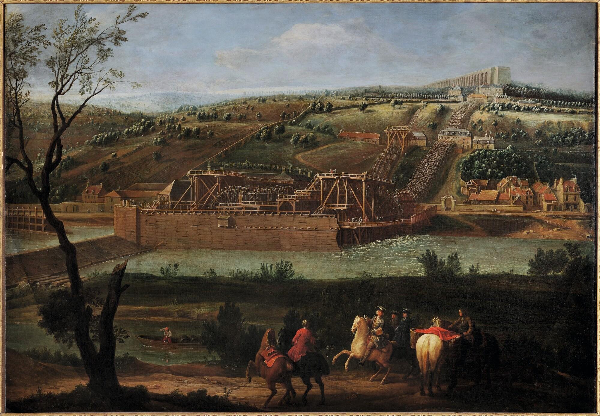 Pierre-Denis Martin, La Machine de Marly, 1723, huile sur toile