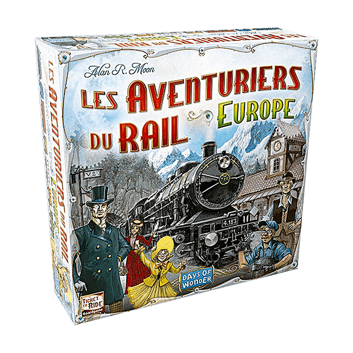 Alan Moon, Les Aventuriers du rail. Europe, Days of Wonder, 2005.