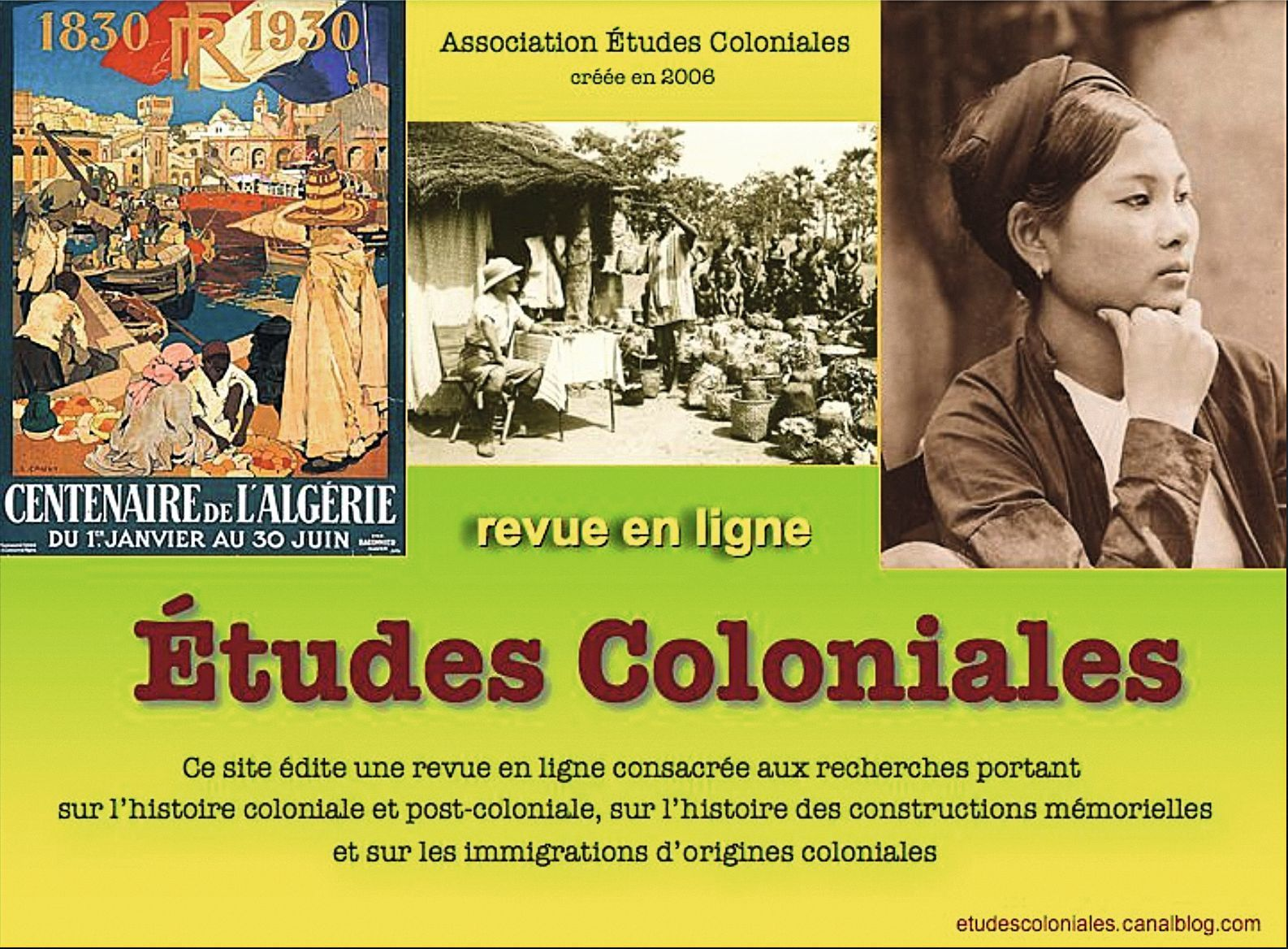 Études coloniales, site internet