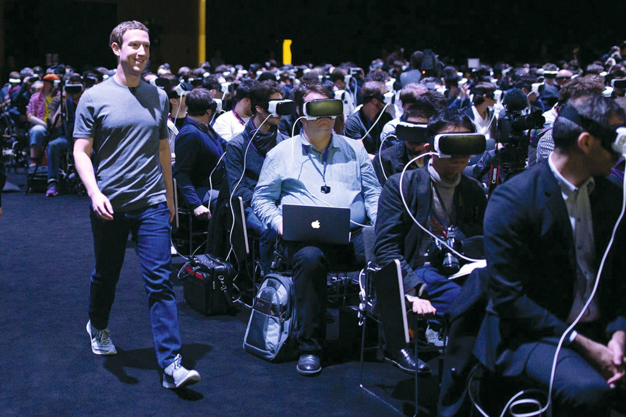 Mark Zuckerberg (fondateur de Facebook) au « Mobile World Congress » de Barcelone, 21 février 2016.