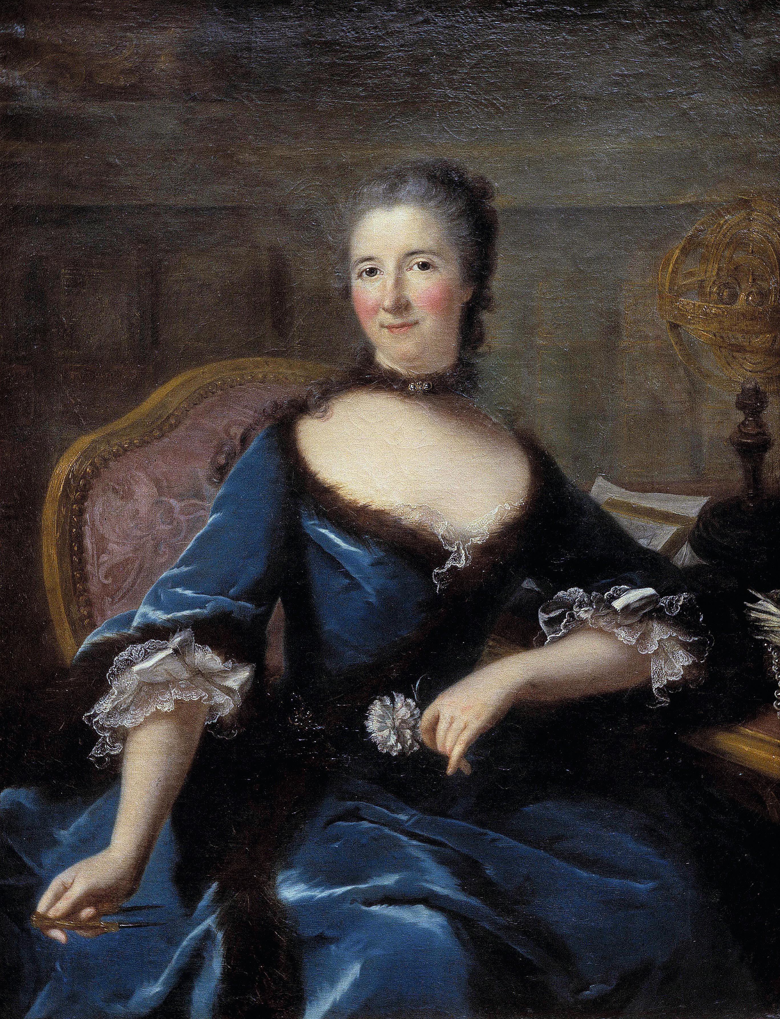 Marianne Loir, Portrait de Gabrielle Émilie Le Tonnelier de Breteuil, marquise du Châtelet, 1803, huile sur toile, 118 x 96 cm, musée des Beaux-Arts, Bordeaux.