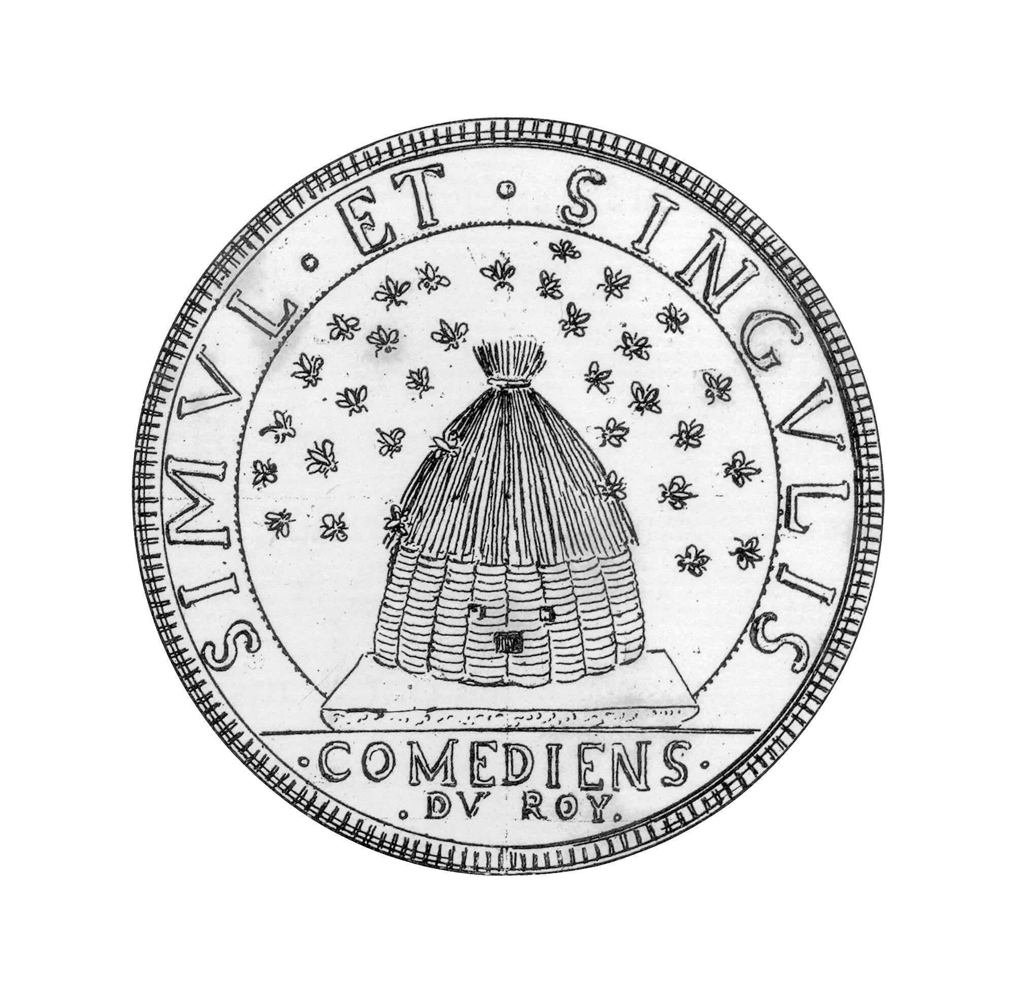 Emblème et devise de la Comédie-Française.