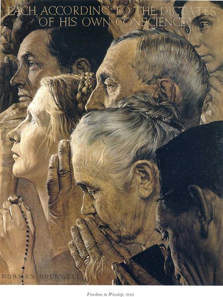 Freedom of Worship, Norman Rockwell, 1943.