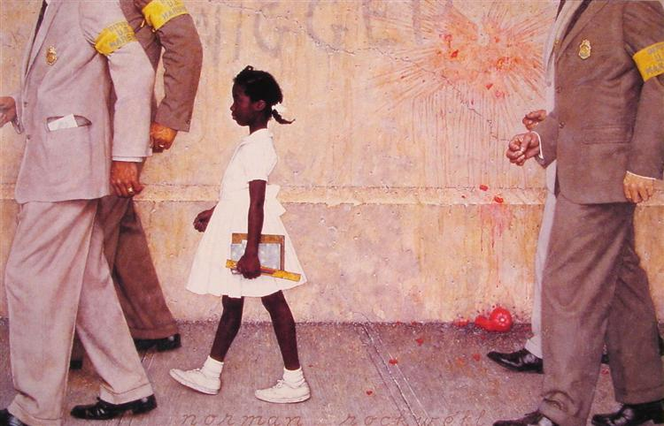 The Problem We All Live With, Norman Rockwell, 1964.