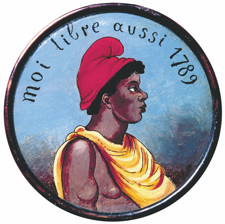 Tête d'un esclave noir portant un bonnet phrygien