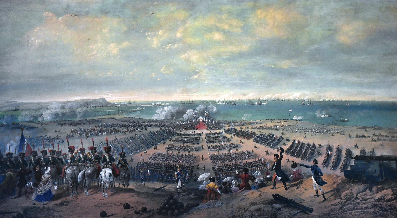 Passage en revue des troupes à Boulogne le 15 août 1804