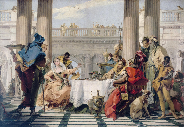 Giovanni Tiepolo, Le Banquet de Cléopâtre, v. 1743-1744.