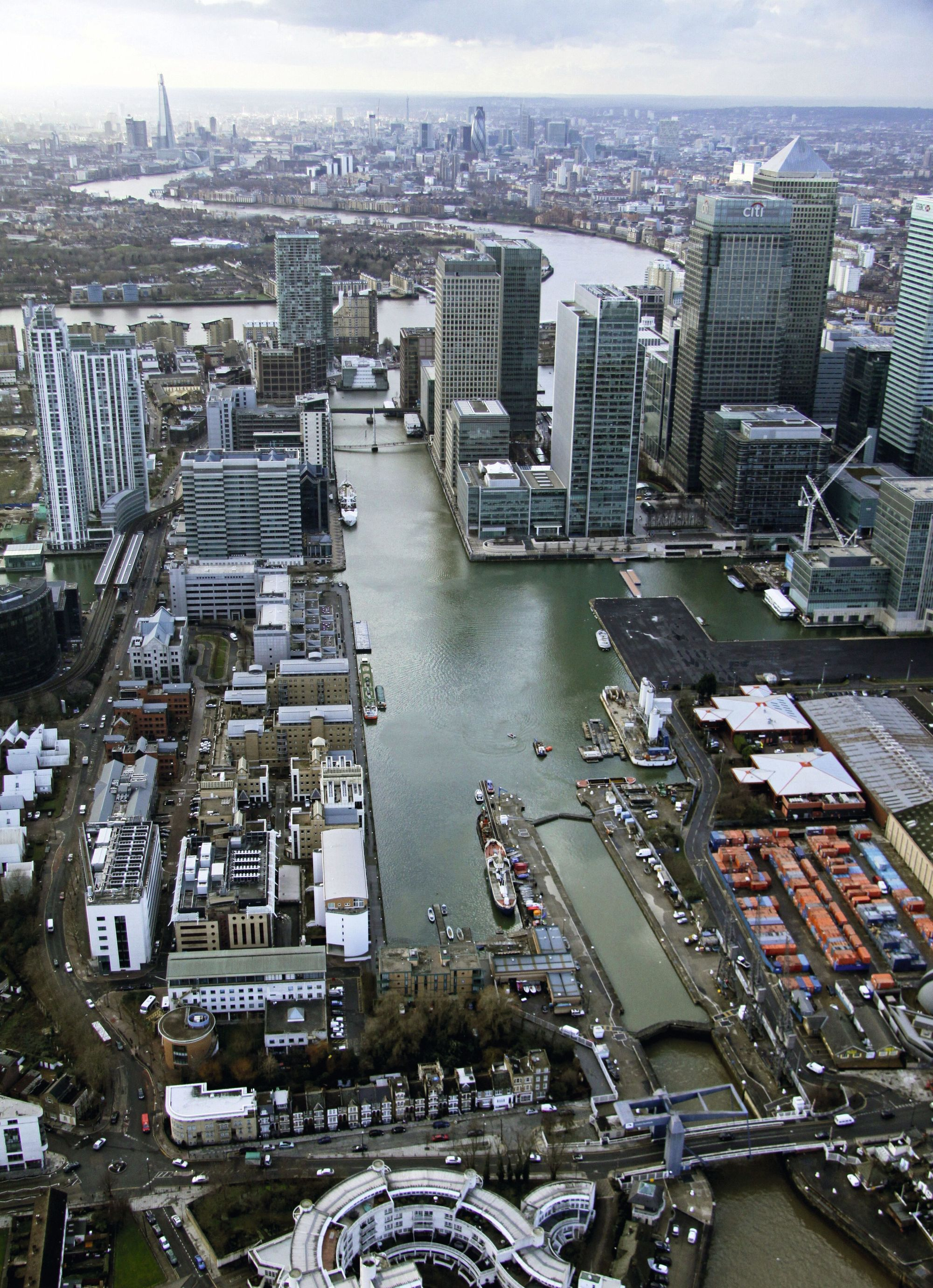 Le réaménagement des Docklands de Canary Wharf