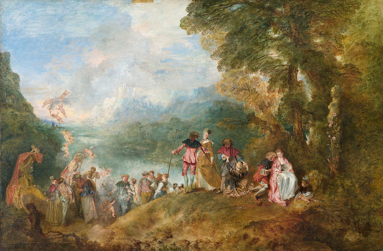 L'Embarquement pour Cythère par Antoine Watteau