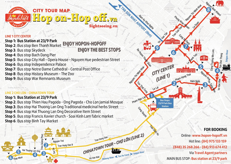 Plan de la chinatown de Hô Chi Minh au Viêt Nam.