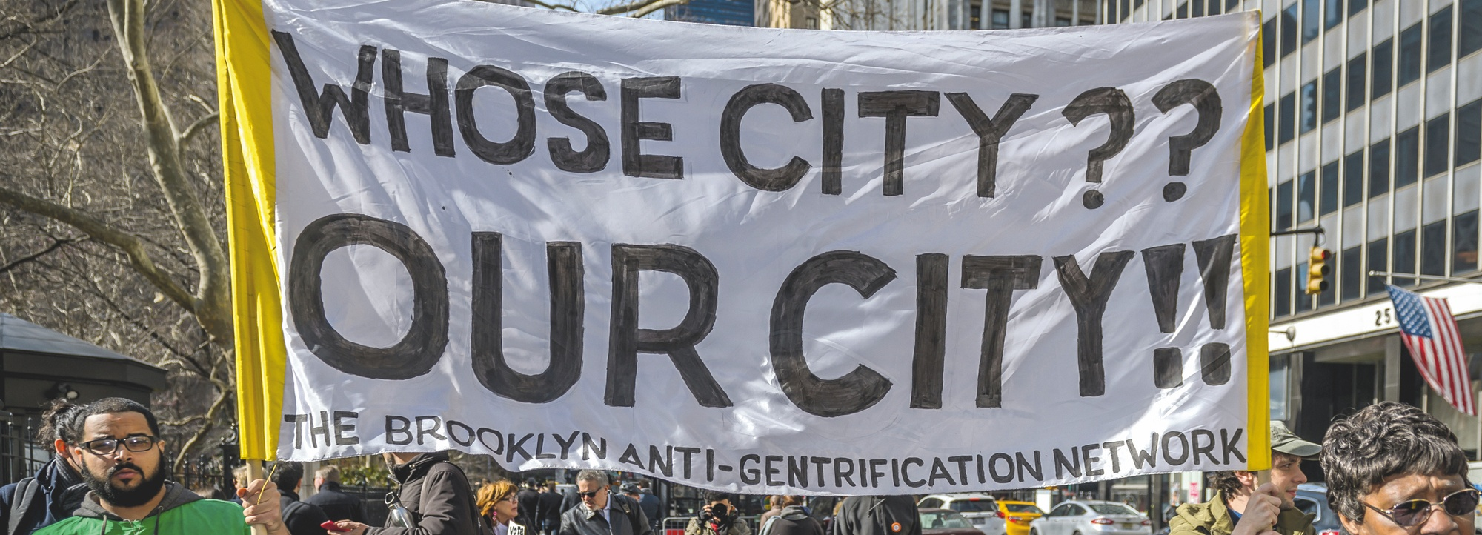Manifestation contre la gentrification à Brooklyn (New York)