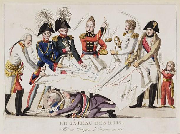 Anonyme, Le Gâteau des rois, 1815, gravure.