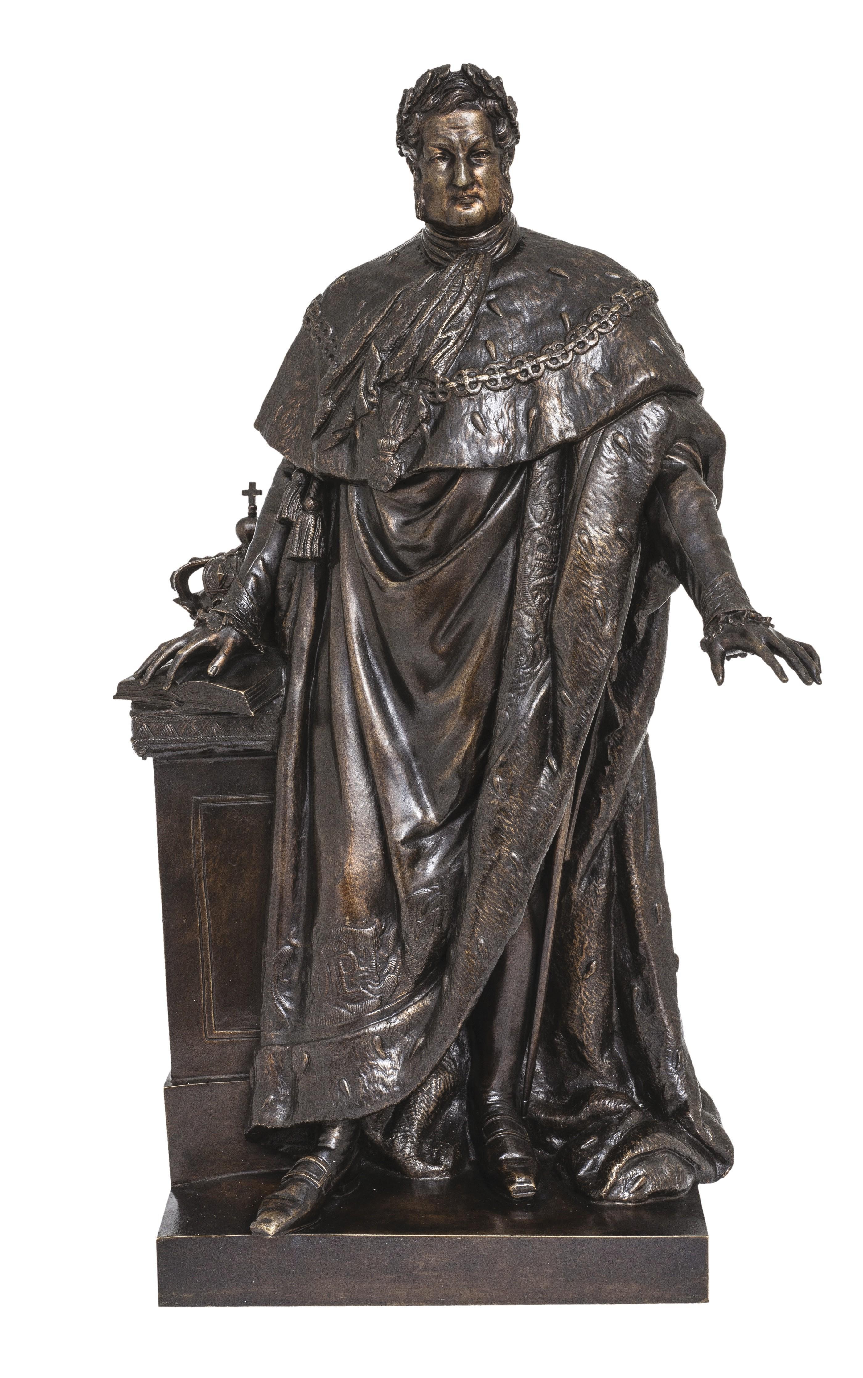 Jean-François- Théodore Gechter, Portrait de Louis-Philippe Ier, v. 1840-1848, bronze à patine brune, 42 x 24 x 21 cm, musée des Arts décoratifs, Paris.