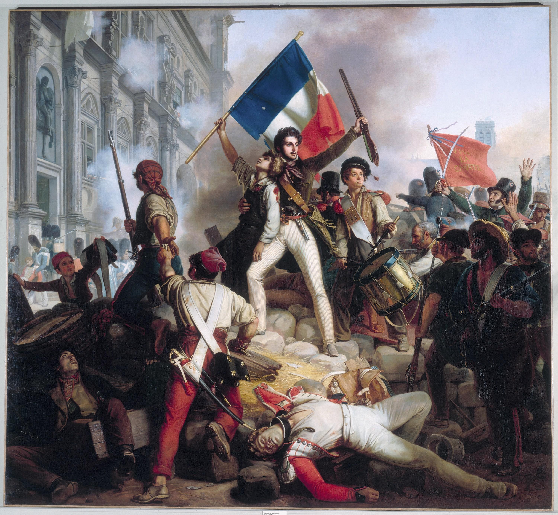 Jean-Victor Schnetz, Combat devant l'hôtel de ville, le 28 juillet 1830, 1833
