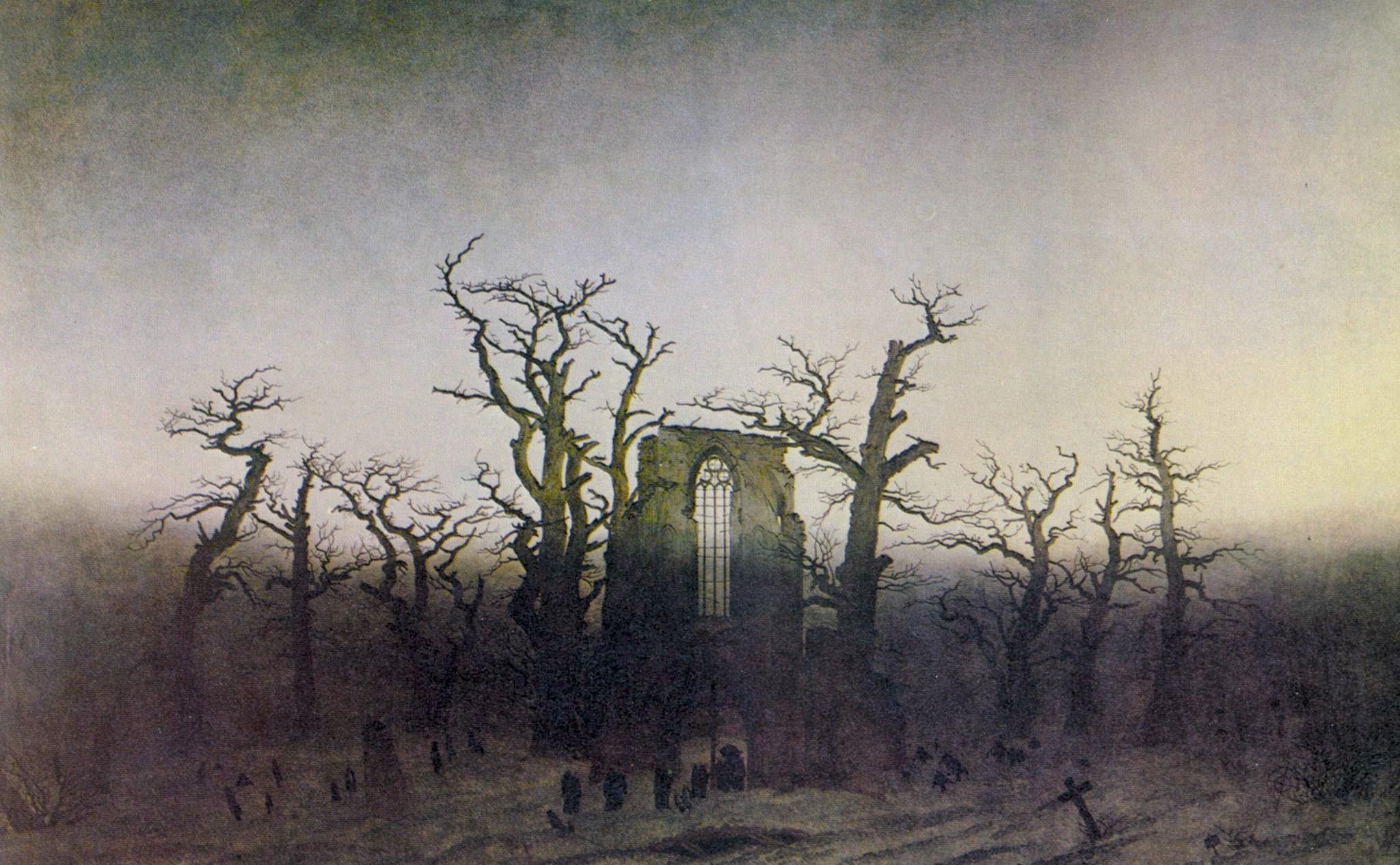 Caspar David Friedrich, L'Abbaye dans une forêt de chênes, 1809 - 1810