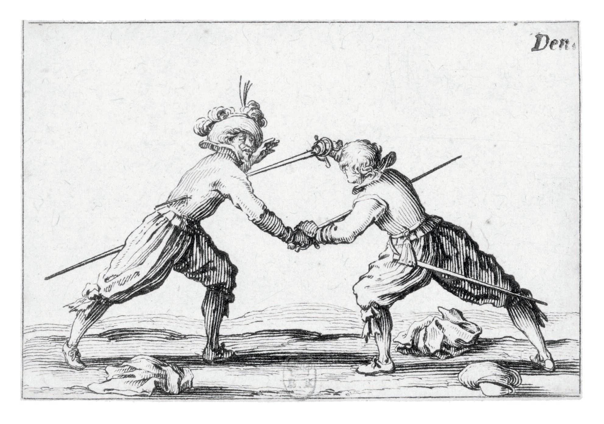 Jacques Callot, Le Duel à l'épée, 1621 - 1622