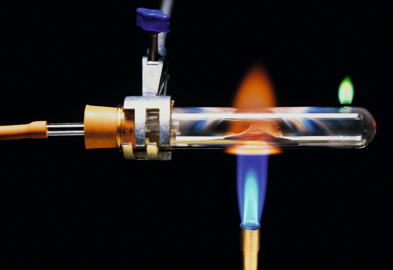 Montage de l'expérience de réduction de l'oxyde de cuivre (II)