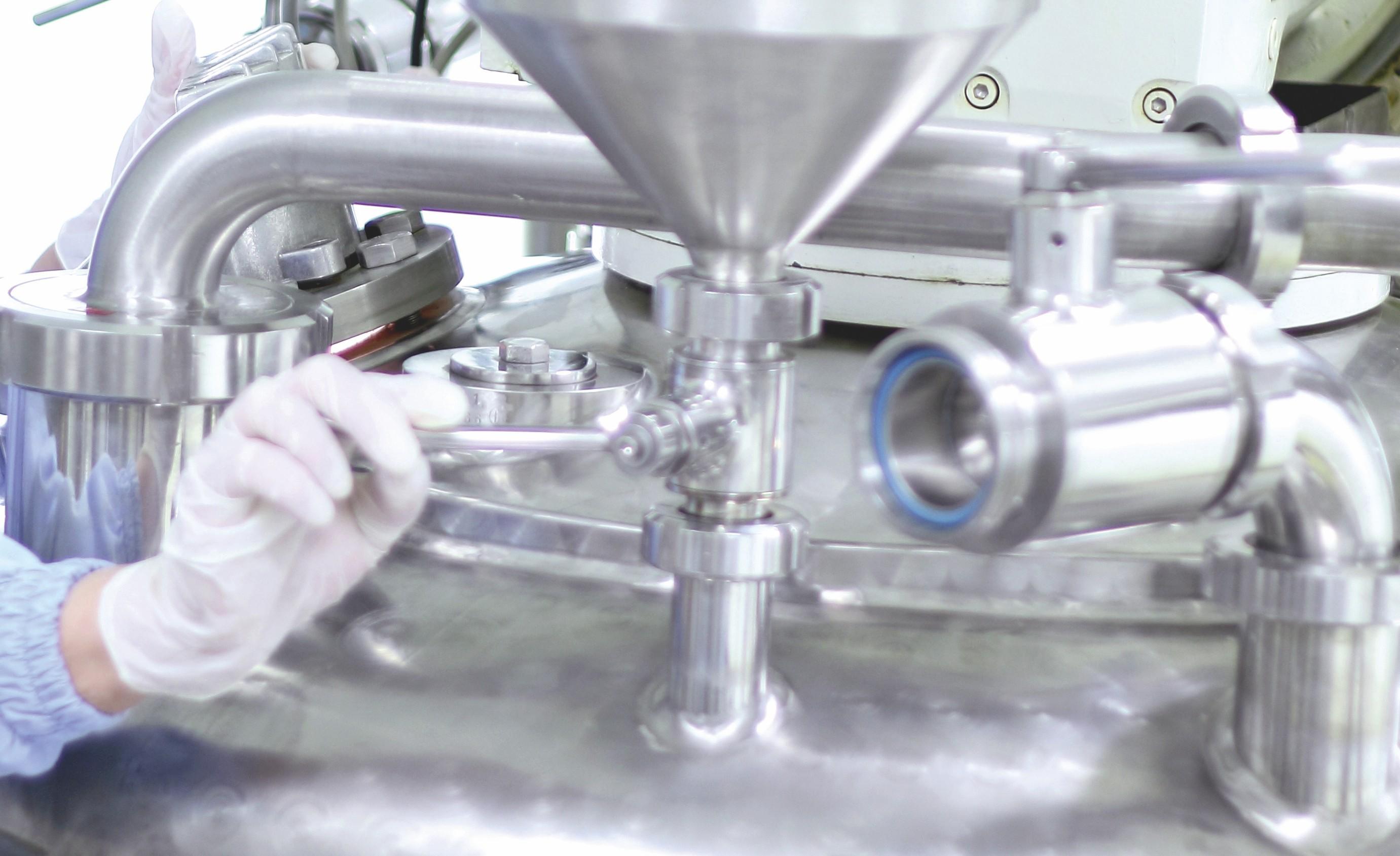 Manipulation chimique industrielle.