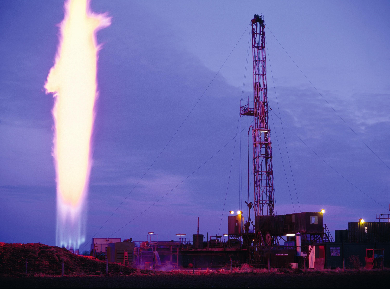 Torchère de gaz (Lincolnshire, Angleterre).