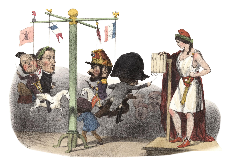 « Un nouveau jeu de bagues », illustration pour Le Charivari, 9 décembre 1848.