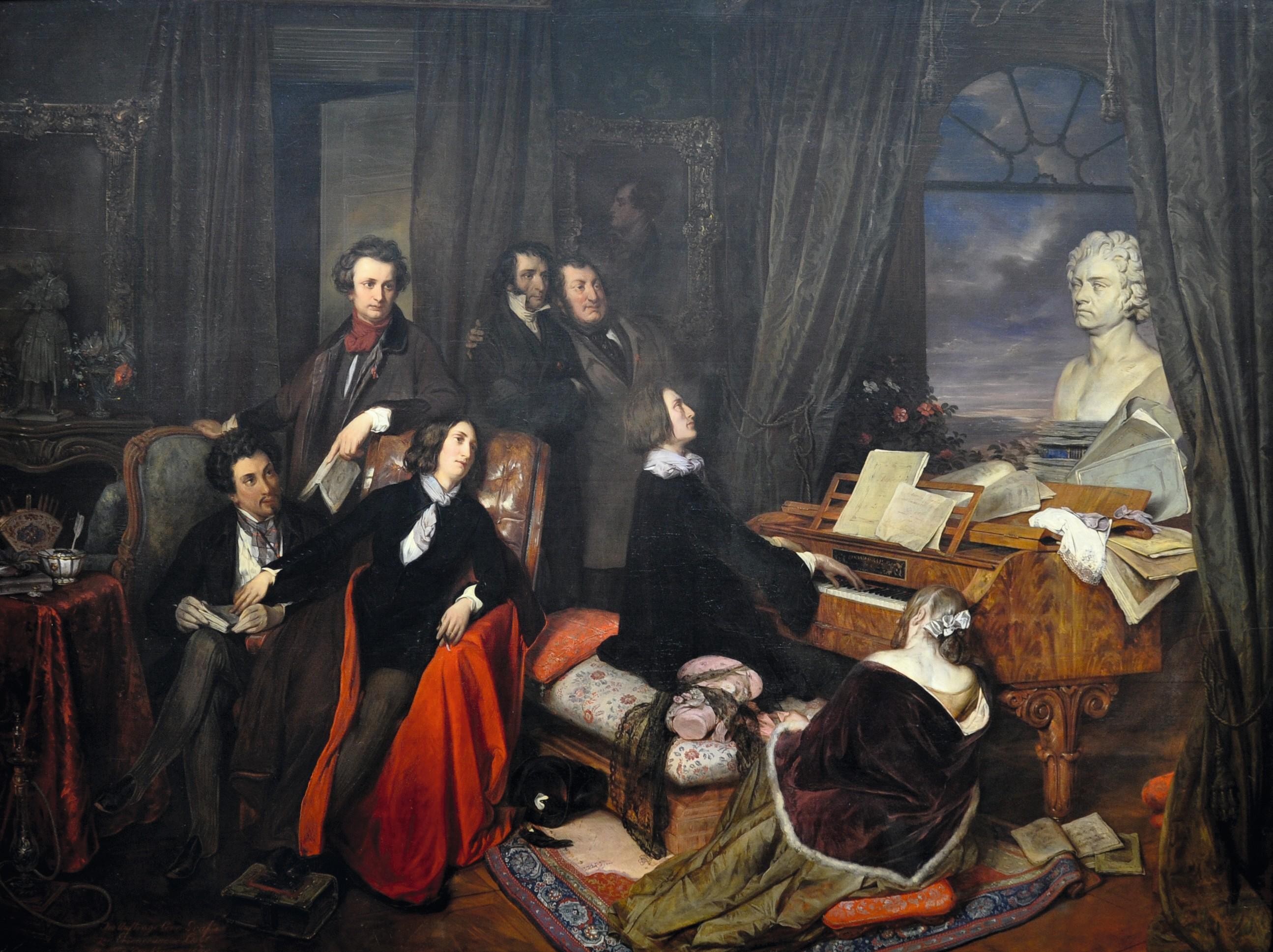 Josef Danhauser, Franz Liszt au piano