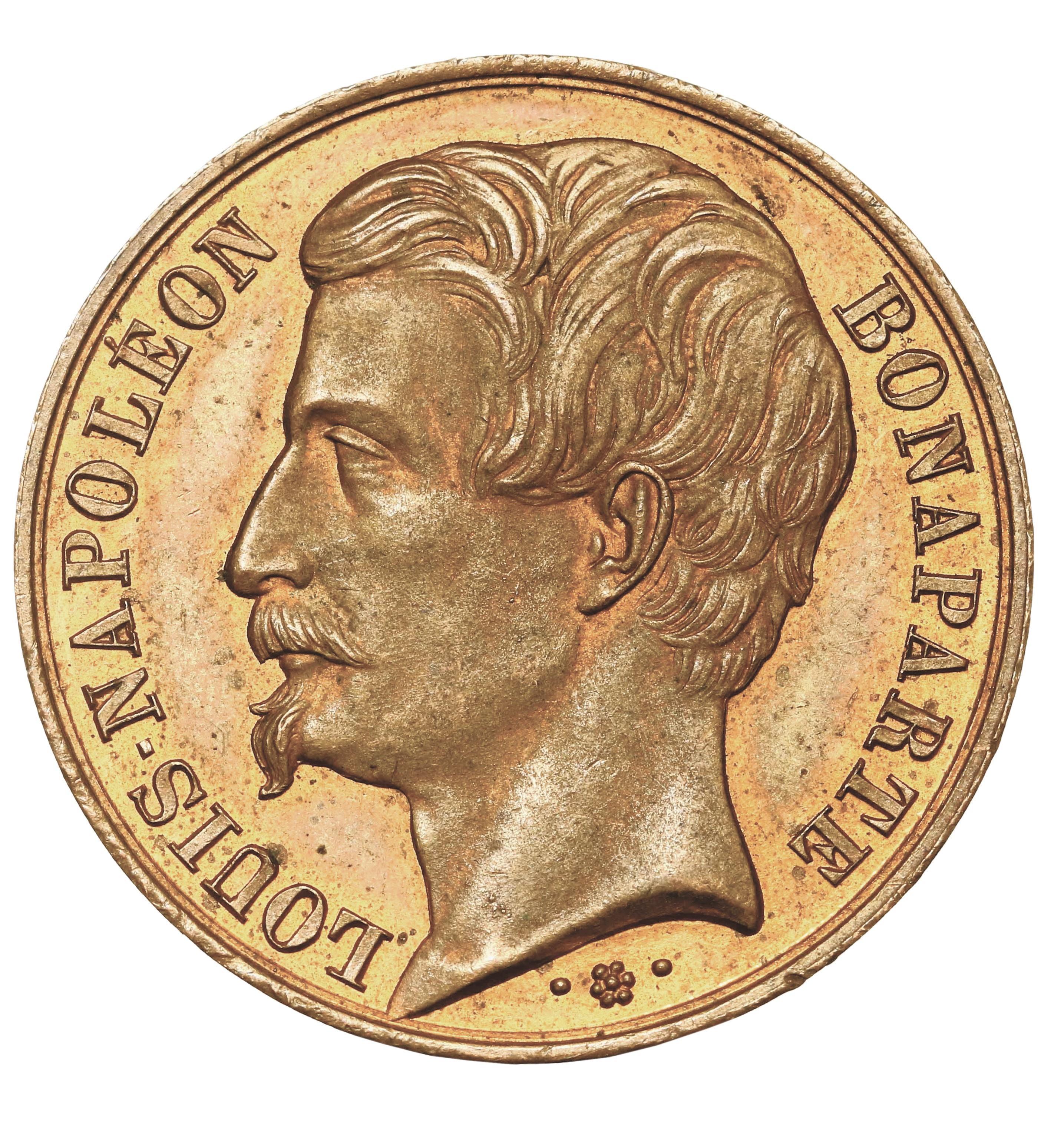 Médaille frappée en janvier 1849, face