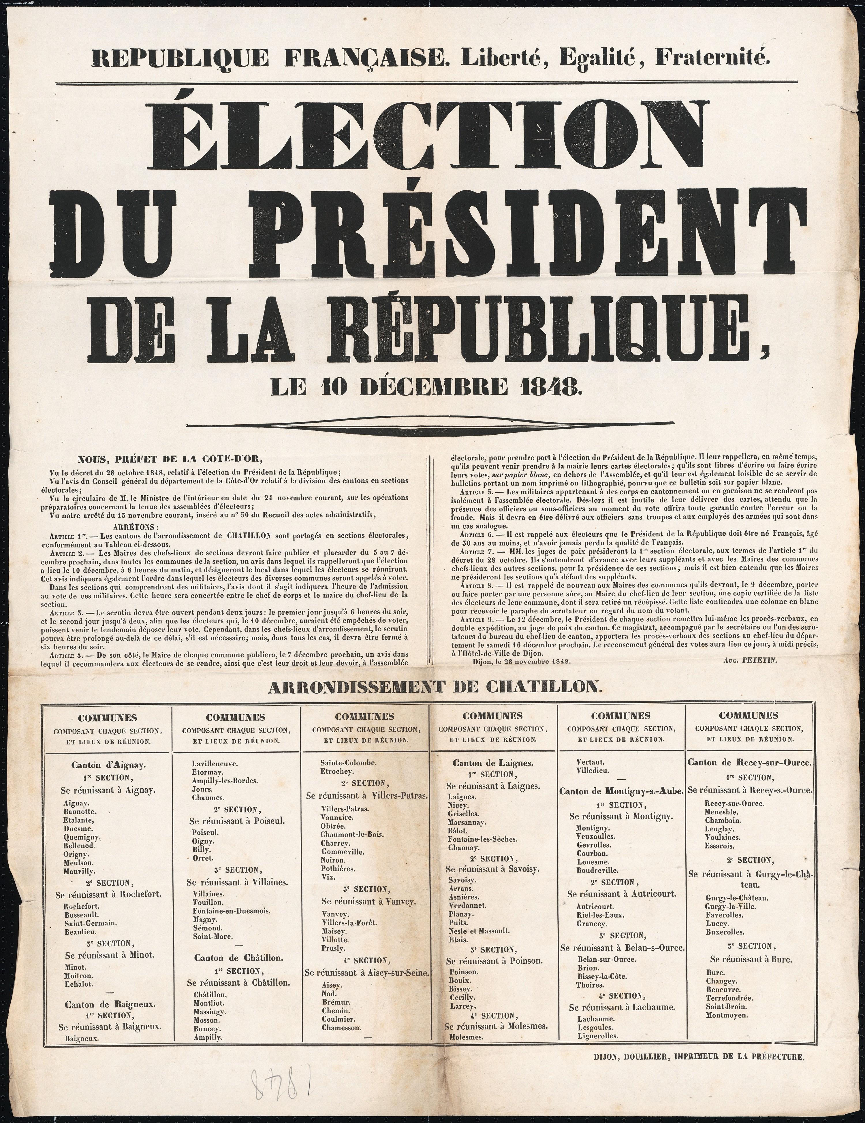 une du journal Élection du président de la République