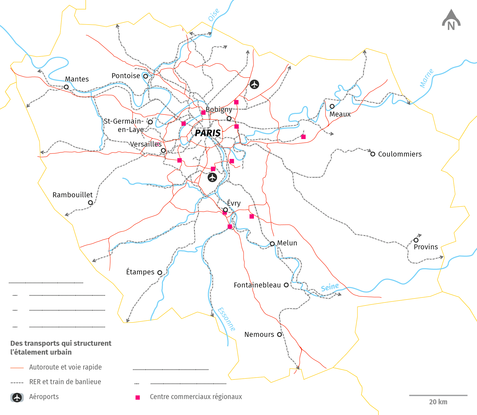 La périurbanisation en Île-de-France