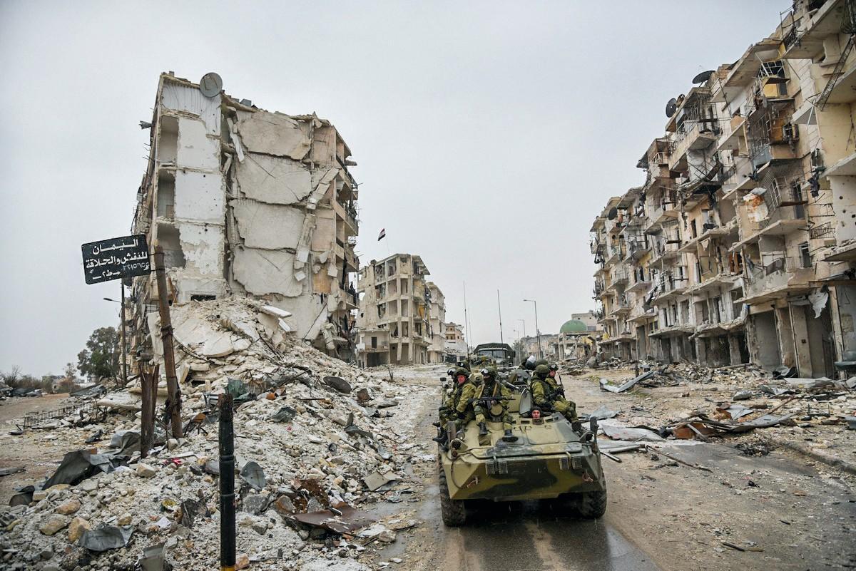 Alep, en 2016, après quatre ans de combats