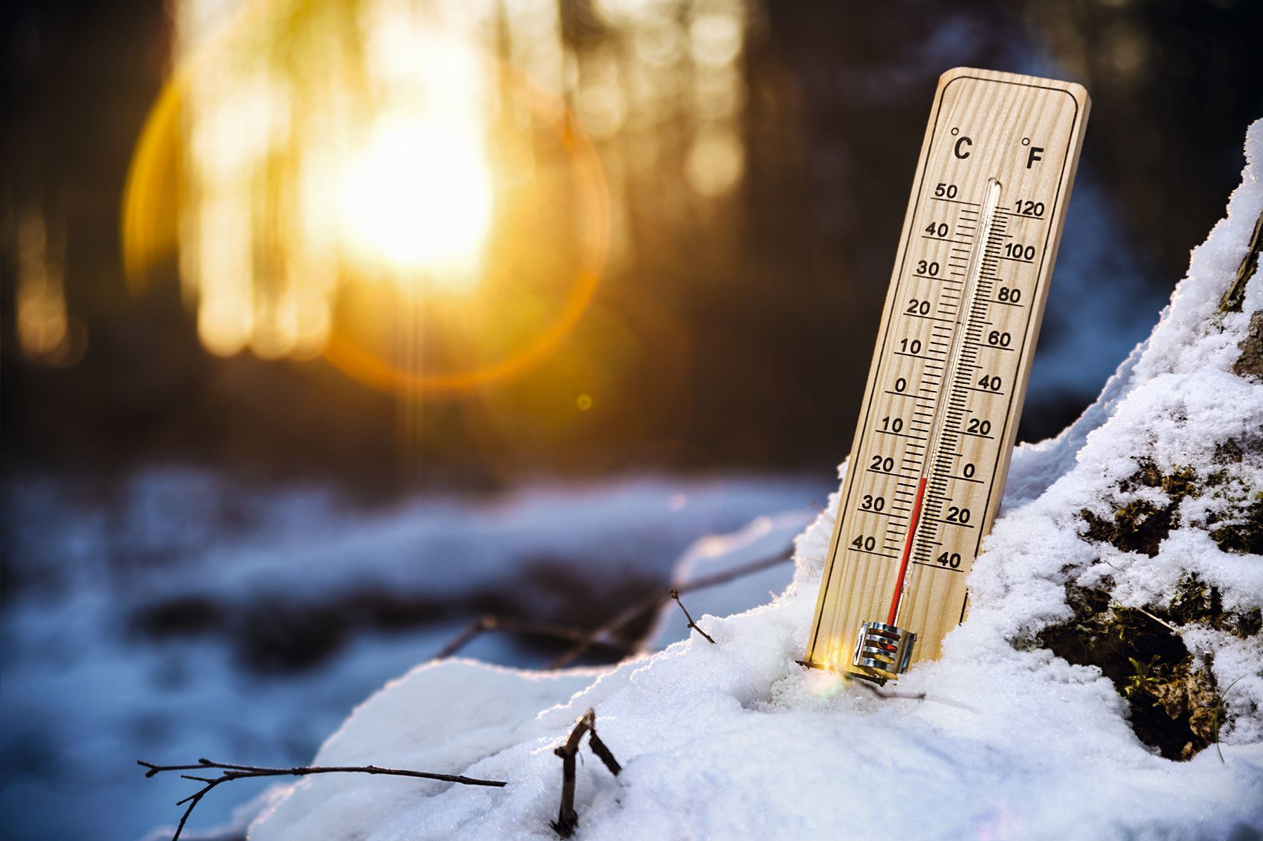 Un thermomètre peux mesurer la température de la neige