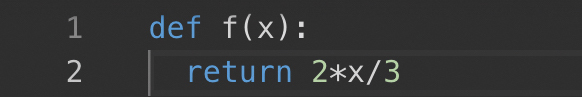 Fonctions affines Python