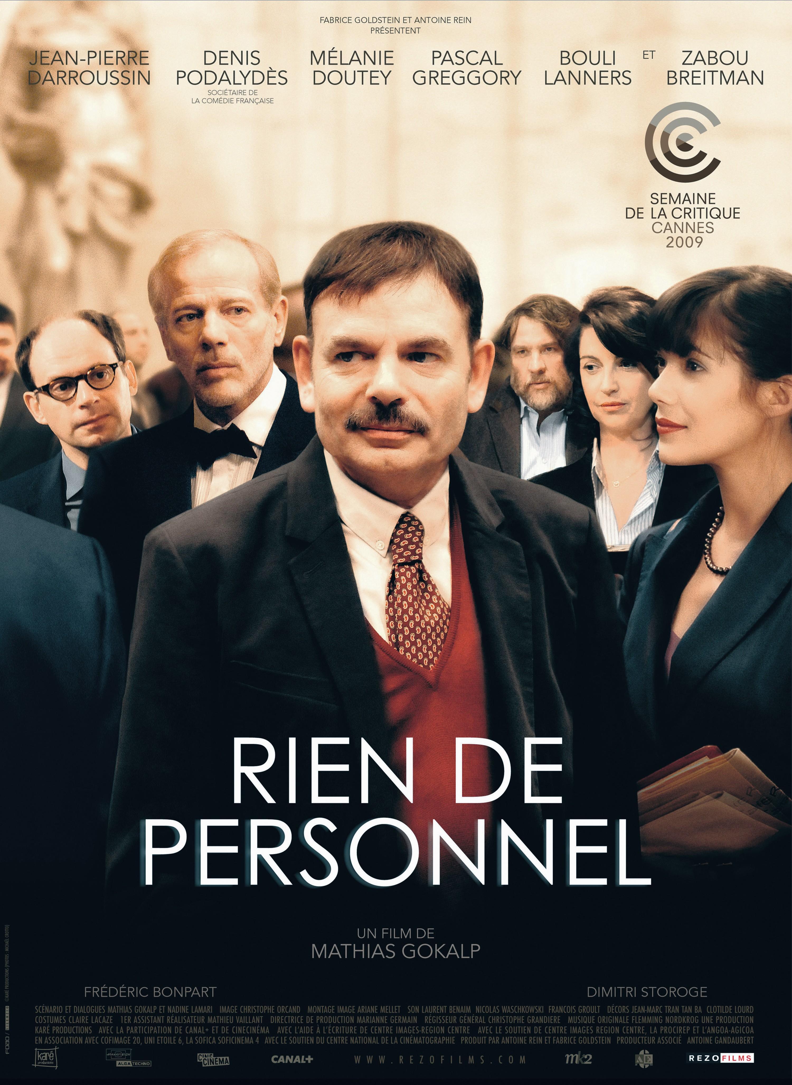 Affiche du film Rien de personnel, de Mathias Gokalp, 2008