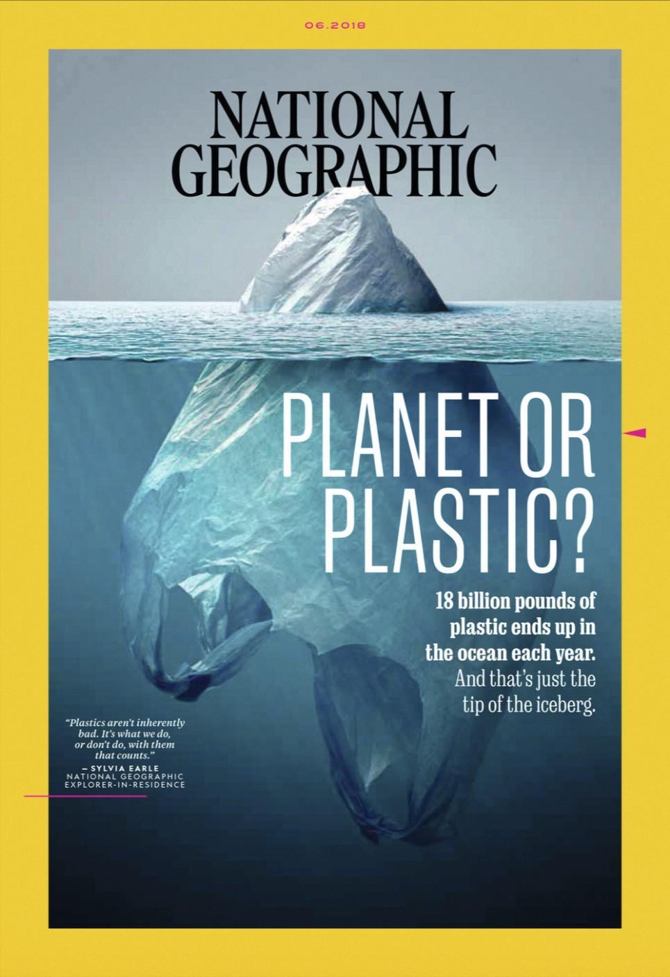 La une du National Geographic, mai 2018.