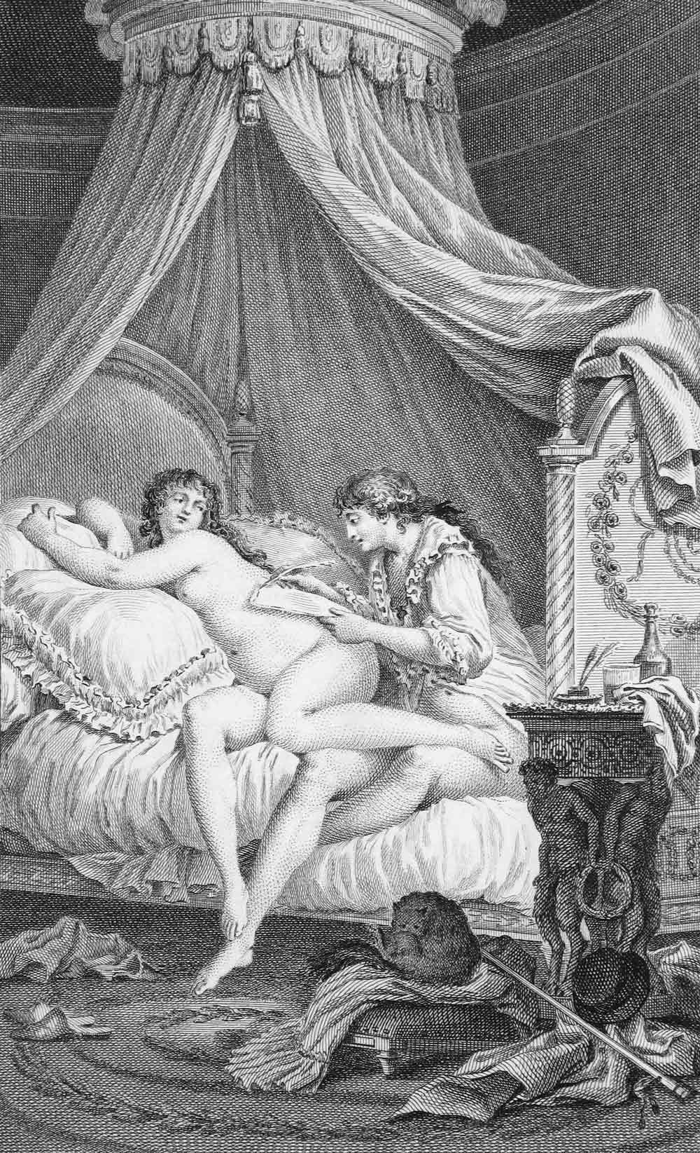 LettreXLVIII gravure de Charles-Louis Lingée pour Les Liasons dangereuses