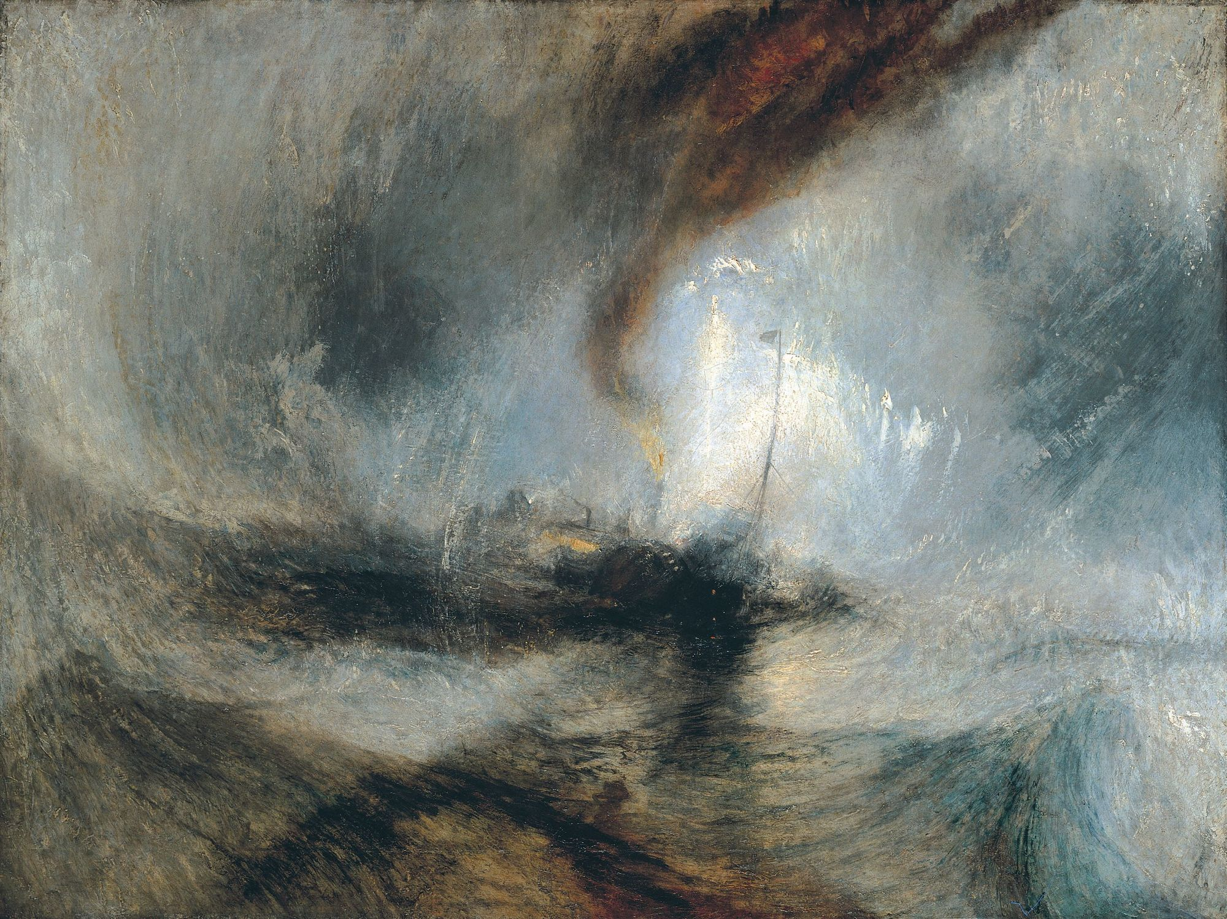 William Turner Tempête de neige en mer