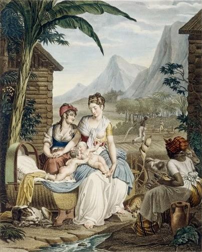 Louis Lafitte et Bourgeois de la Richardière, Enfance de Paul et de Virginie, 1806