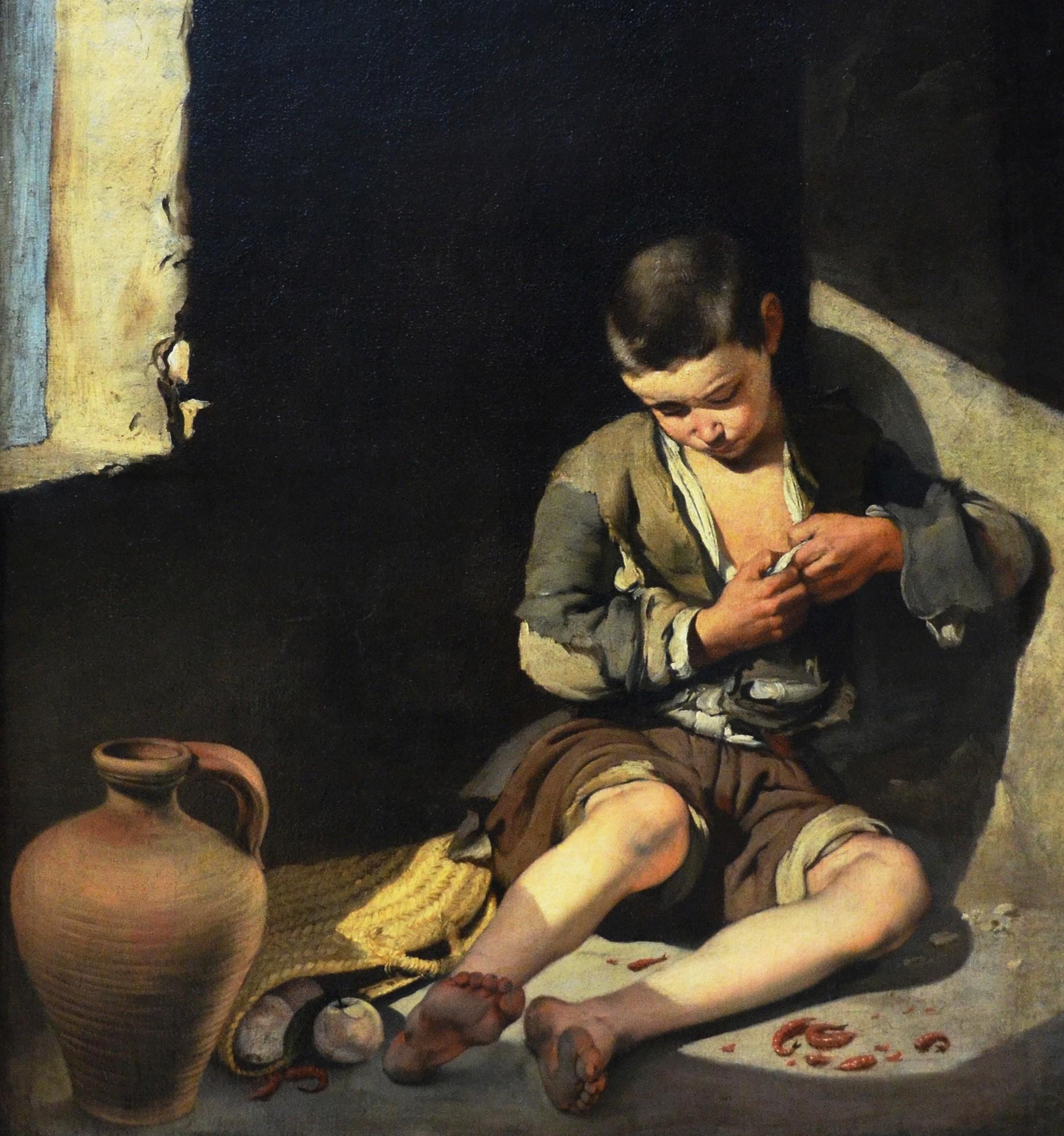 Bartolomé Esteban Murillo, Le Jeune Mendiant, 1645 - 1650, huile sur toile, 137 x 115 cm, musée du Louvre, Paris.